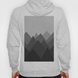 Black and White Abstract Mountains Hoody