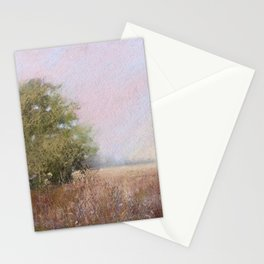 Quiet Afternoon Soft Pastel Landscape Painting Stationery Cards
