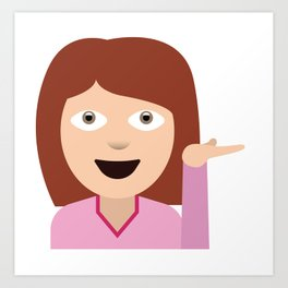 Sassy Emoji Art Print