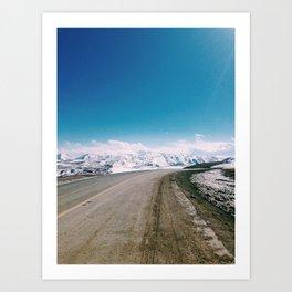 Tibetan highway Art Print