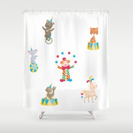 Circus Clown And Animals Shower Curtain
