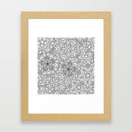 Mandalas pattern Framed Art Print