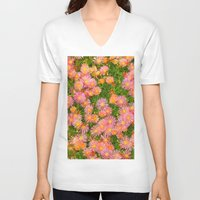 blanket V-neck T-shirts featuring Daisy Blanket by Kaitlynn Lewis
