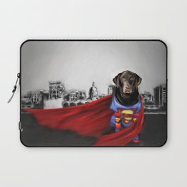 Dog of Steel in the City of Madison Laptop Sleeve