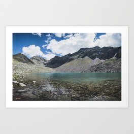 Blue Alpine Lake in Austria Art Print