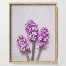 Pink Hyacinths Serving Tray