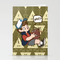 gravity falls Stationery Cards featuring Dipper Pines - Gravity Falls by BlacksSideshow