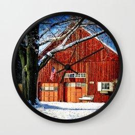 Red Barn Wall Clock