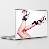 heels Laptop & iPad Skins featuring Hot Heels by Erin Conover