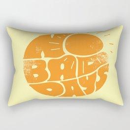 No Bad Days Retro Sun Rectangular Pillow
