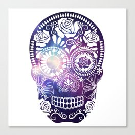 Mexican Skull Space V2 Canvas Print