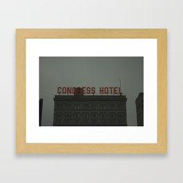 Congress Hotel Framed Art Print