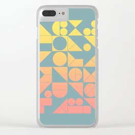 Modern Geometric 06 Clear iPhone Case