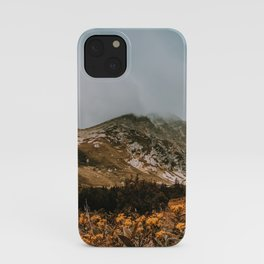 Mountain in the fog iPhone Case