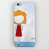 sassy iPhone & iPod Skins featuring Sassy by Amy K. Nichols