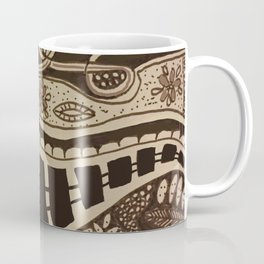 Train Tracks Running Right Through The City #Abstract #Ink #ZenArt Coffee Mug