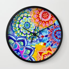 Summer Snowflakes  Wall Clock