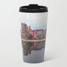 Pink Reflections Metal Travel Mug