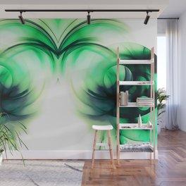 abstract fractals mirrored reacmagi Wall Mural