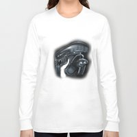 xenomorph Long Sleeve T-shirts featuring Mama Xenomorph by Nataliette