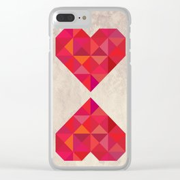 Heart geometry Clear iPhone Case