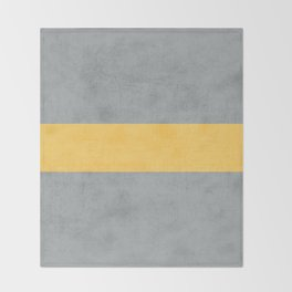 gray and yellow classic Throw Blanket