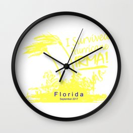 I survived Hurricane Irma Wall Clock