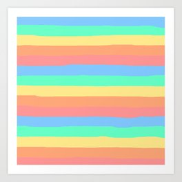 lumpy or bumpy lines abstract and summer colorful - QAB275 Art Print