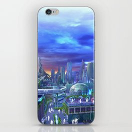 flowtopia iPhone Skin
