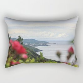 Landscape at the Azores islands, Pico island, view to the Atlantic ocean. Rectangular Pillow
