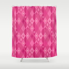 Pink Lily Bears Shower Curtain