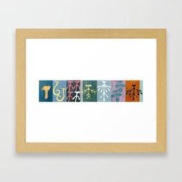 Collage of Glands Framed Art Print