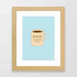 Depresso Framed Art Print