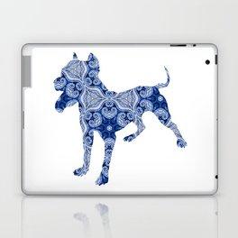 Paisley Dog No. 1 in Blue   Extra Large Laptop & iPad Skin