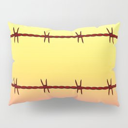 Mexico Border Barbe Wire Fence Pillow Sham