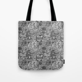 Cleveland Sticker Wall Tote Bag