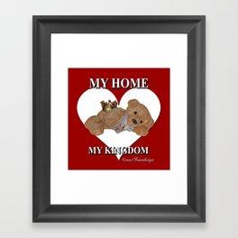 My Home, My Kingdom - Red Framed Art Print