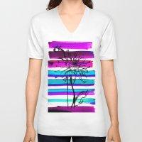 dahlia V-neck T-shirts featuring DAHLIA by Emine Ortega