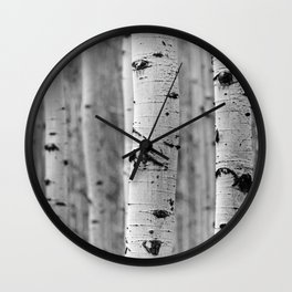 Serenity in the Aspen Forest Wall Clock
