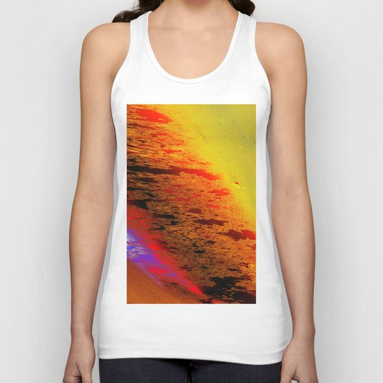 shimmer behind view Unisex Tank Top