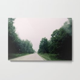 Driving In The August Rain Metal Print