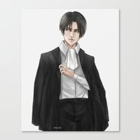 levi Canvas Prints featuring Levi by sing-sei
