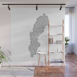 Cities in Sweden - white Wall Mural