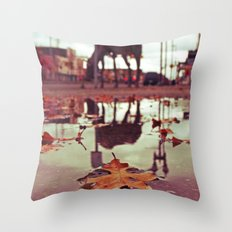 Roadside water Throw Pillow