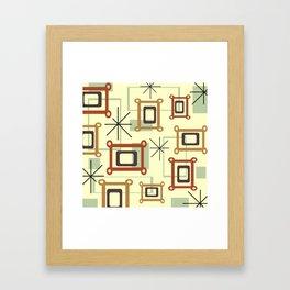 Mid Century Modern Geometric Art Framed Art Print