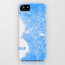 Marseille, France street map iPhone Case