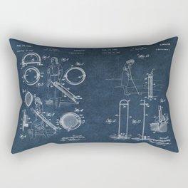 golf club carier WICK patent art Rectangular Pillow