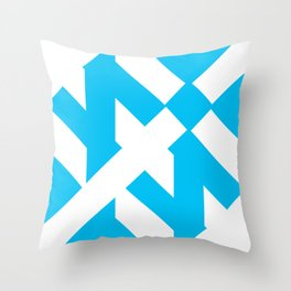 Funky Shapes Throw Pillow