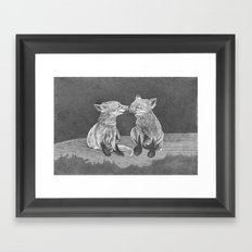 Kissing Cubs Framed Art Print