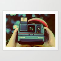 polaroid Art Prints featuring polaroid by Angela Mia Photography
